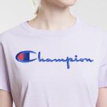 Женская футболка Champion Reverse Weave Script Logo Crew Neck Pastel Lilac фото- 2