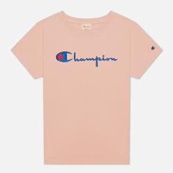 Женская футболка Champion Reverse Weave Script Logo Crew Neck Peach