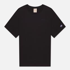 Женская футболка Champion Reverse Weave Script Logo Embroidery Maxi Black