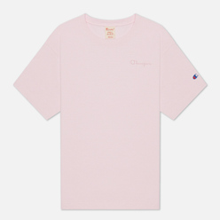 Женская футболка Champion Reverse Weave Script Logo Embroidery Maxi Pink