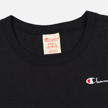 Женская футболка Champion Reverse Weave Small Script Crew Neck Black фото- 1
