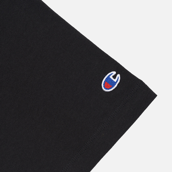 Женская футболка Champion Reverse Weave Small Script Crew Neck Black