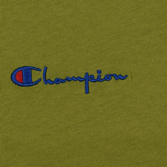 Женская футболка Champion Reverse Weave Small Script Crew Neck Guacamole