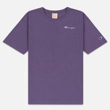 Женская футболка Champion Reverse Weave Small Script Crew Neck Mulled Grape фото- 0