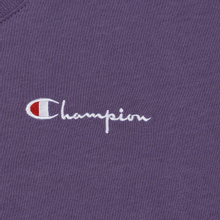Женская футболка Champion Reverse Weave Small Script Crew Neck Mulled Grape фото- 1