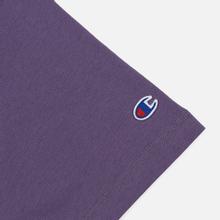 Женская футболка Champion Reverse Weave Small Script Crew Neck Mulled Grape фото- 2