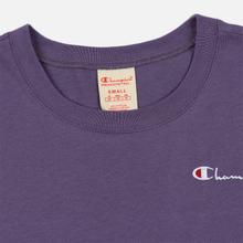 Женская футболка Champion Reverse Weave Small Script Crew Neck Mulled Grape фото- 3