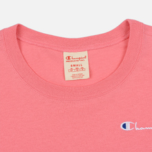Женская футболка Champion Reverse Weave Small Script Crew Neck Pink фото- 1