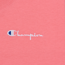 Женская футболка Champion Reverse Weave Small Script Crew Neck Pink фото- 3