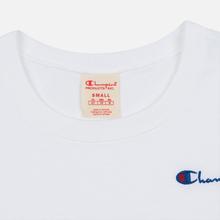 Женская футболка Champion Reverse Weave Small Script Crew Neck White фото- 2
