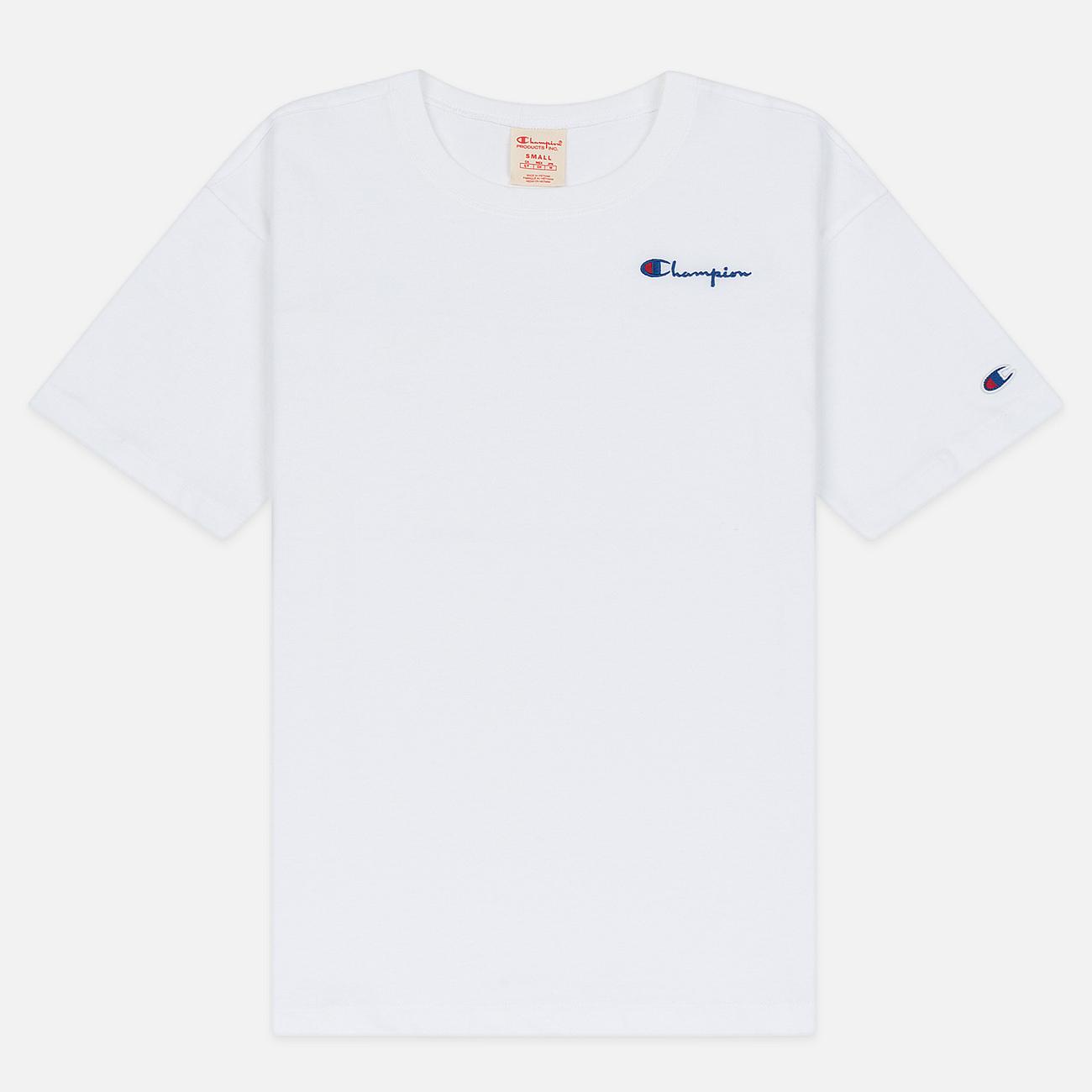 Женская футболка Champion Reverse Weave Small Script Crew Neck White