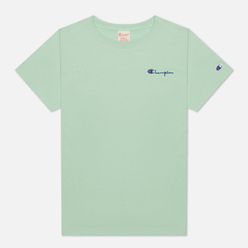 Женская футболка Champion Reverse Weave Small Script & Logo Sleeve Crew Neck Lime Green
