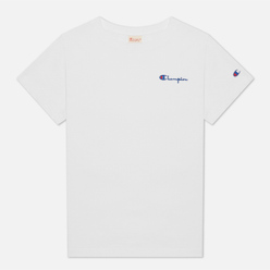 Женская футболка Champion Reverse Weave Small Script & Logo Sleeve Crew Neck White