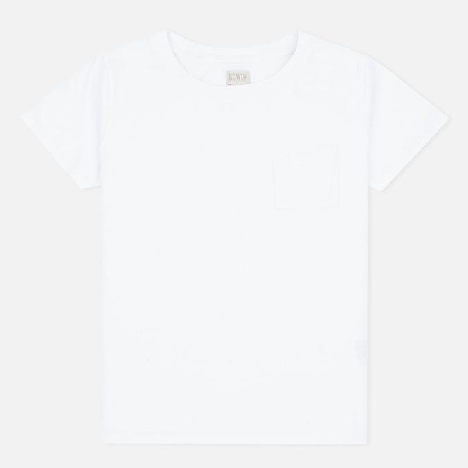 Женская футболка Edwin W' April Pocket White