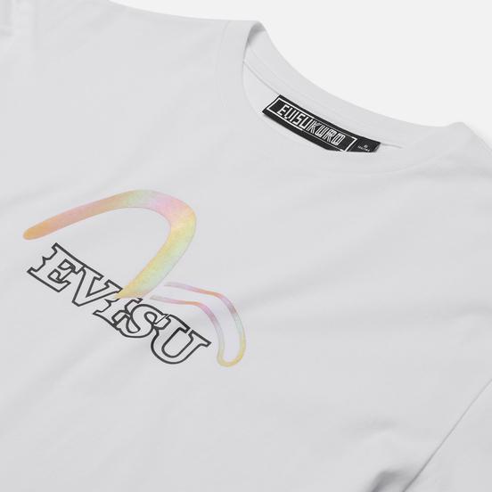 Женская футболка Evisu Evisukuro Seagull Crystal Branding White