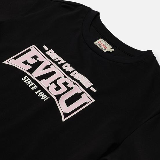 Женская футболка Evisu Heritage All Over Printed Boyfriend Black