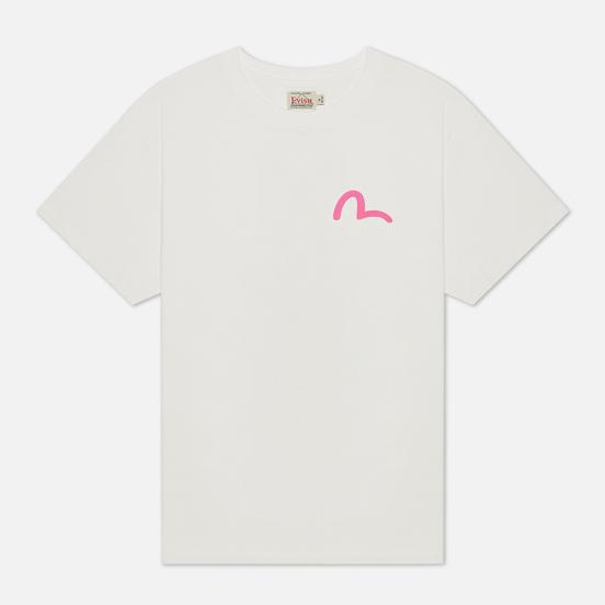 Женская футболка Evisu Heritage Daruma Printed Off White