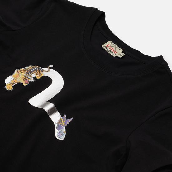 Женская футболка Evisu Heritage Seagull Foil Printed Black