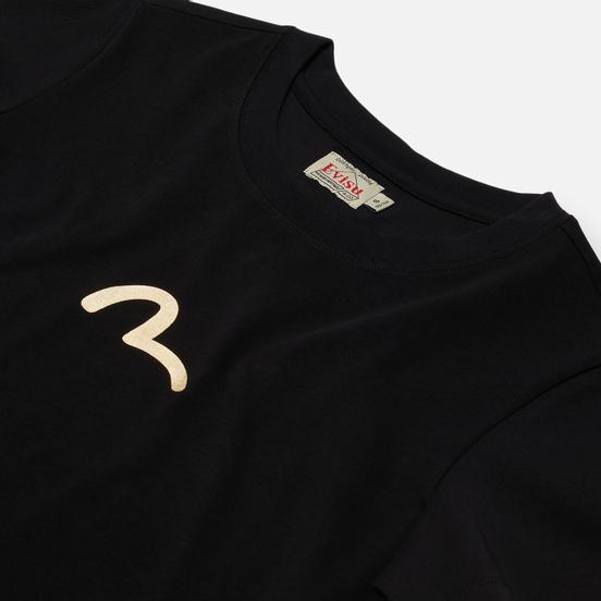 Женская футболка Evisu Heritage Tiger & Kamon Foil Printed Black