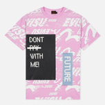 Женская футболка Evisu Message Boyfriend Pink Multi фото- 0