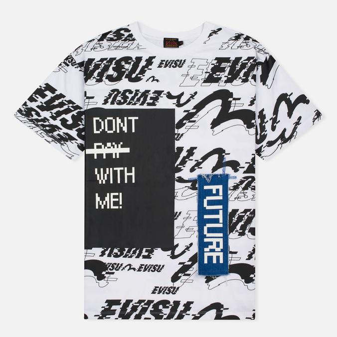 Женская футболка Evisu Message Boyfriend White Multi