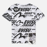 Женская футболка Evisu Message Boyfriend White Multi фото- 3