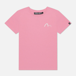 Женская футболка Evisu Multi-Glitched Seagull Pink