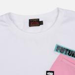 Женская футболка Evisu Pocket White/Pink фото- 1