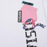 Женская футболка Evisu Pocket White/Pink фото- 2