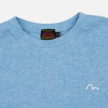Женская футболка Evisu Stamp Long Tee Blue фото- 1