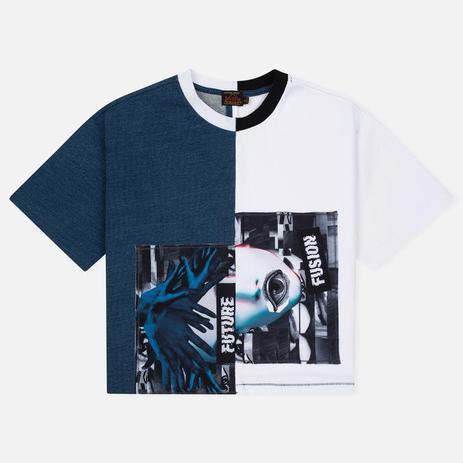 Женская футболка Evisu Two-Tone Indigo