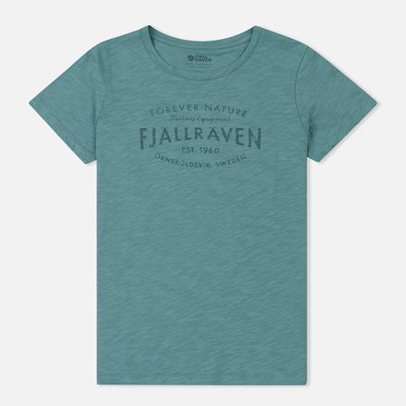 Женская футболка Fjallraven Fjallraven Est. 1960 Lagoon