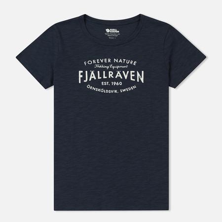 Женская футболка Fjallraven Fjallraven Est. 1960 Navy
