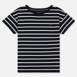 Женская футболка Fred Perry Classic Stripe Snow Navy/White фото- 0