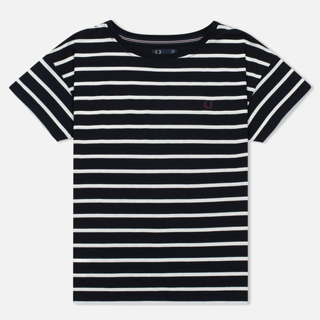 Женская футболка Fred Perry Classic Stripe Snow Navy/White