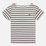 Женская футболка Fred Perry Classic Stripe Snow White/Red фото- 0