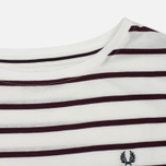 Женская футболка Fred Perry Classic Stripe Snow White/Red фото- 1