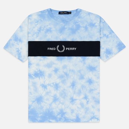 Женская футболка Fred Perry Embroidered Logo Tie-Dye Blue