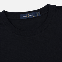Женская футболка Fred Perry Embroidered Panel Navy фото- 1