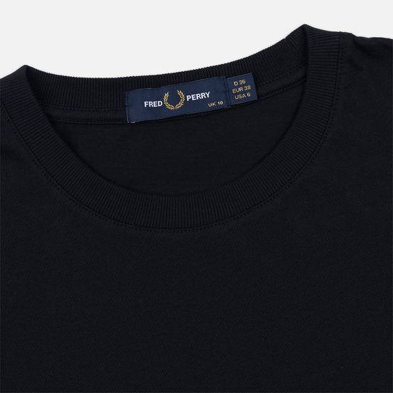 Женская футболка Fred Perry Embroidered Panel Navy