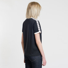 Женская футболка Fred Perry Laurel Sports Authentic Taped Ringer Black фото- 3