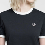 Женская футболка Fred Perry Laurel Sports Authentic Taped Ringer Black фото- 2
