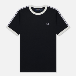 Женская футболка Fred Perry Laurel Sports Authentic Taped Ringer Black