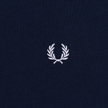 Женская футболка Fred Perry Laurel Sports Authentic Taped Ringer Dark Carbon фото- 2