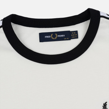 Женская футболка Fred Perry Laurel Sports Authentic Taped Ringer Snow White фото- 1