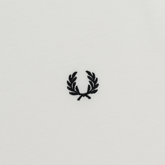 Женская футболка Fred Perry Laurel Sports Authentic Taped Ringer Snow White