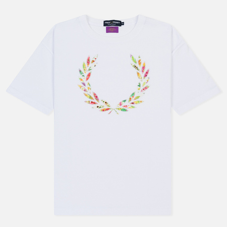 Женская футболка Fred Perry Liberty Print Laurel Applique White