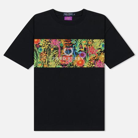 Женская футболка Fred Perry Liberty Print Panel Black