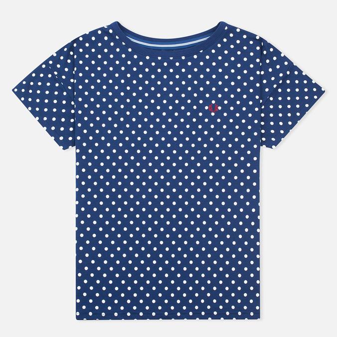 Женская футболка Fred Perry Polka Dot Medieval Blue