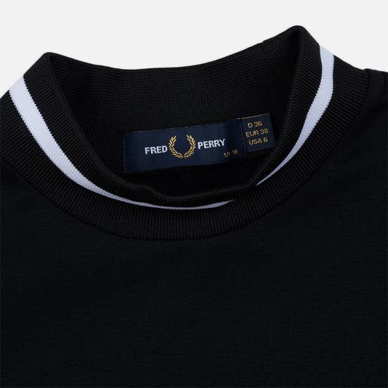 Женская футболка Fred Perry Printed High Neck Black